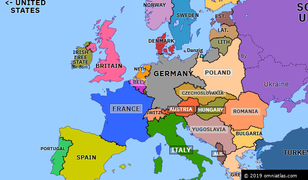 map of europe 1936 Remilitarization of the Rhineland | Historical Atlas of Europe (7