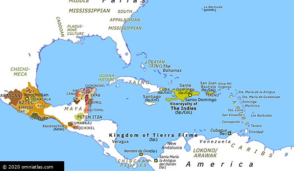 Spanish Colonies In The Caribbean