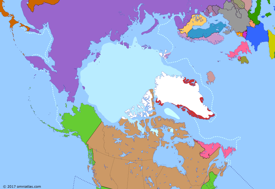 Political map of the Arctic & the Far North 10 April 1940 (Invasion of Denmark and Norway): Germany had agreed to a partition of Eastern Europe with the Soviet Union (Molotov%E2%80%93Ribbentrop Pact), giving the Soviets leeway to attack Finland in late 1939 (Winter War). While the Allies (Allies of World War II) were contemplating how to respond to this (Franco-British plans for intervention in the Winter War), Germany launched a lightning invasion of Denmark and Norway (Operation Weser%C3%BCbung).  The Allies, who had been preparing to intervene in Norway themselves (Plan R 4), were caught by surprise.