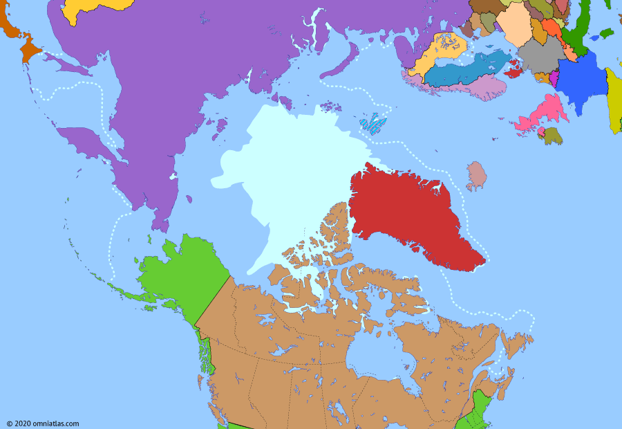 Political map of the Arctic & the Far North on 15 Jan 2020 (The Arctic Transformed: The Arctic Today), showing the following events: Venta Maersk.