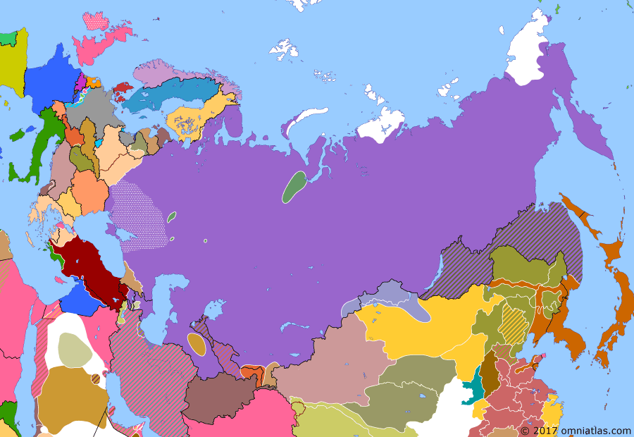"Political map of Russia & the former Soviet Union 1 February 1921 (""Green"" Revolts): On 15 November 1920 the remaining White forces (White movement) in the west evacuated the Crimea. This marked a new phase in the Russian Civil War (Left-wing uprisings against the Bolsheviks) as the alliance between the Bolsheviks (Bolshevik) and the other left wing parties collapsed. Many peasants, sailors (Kronstadt rebellion), anarchists, and Social Revolutionaries (Socialist-Revolutionary Party) now rose up against Communist oppression."