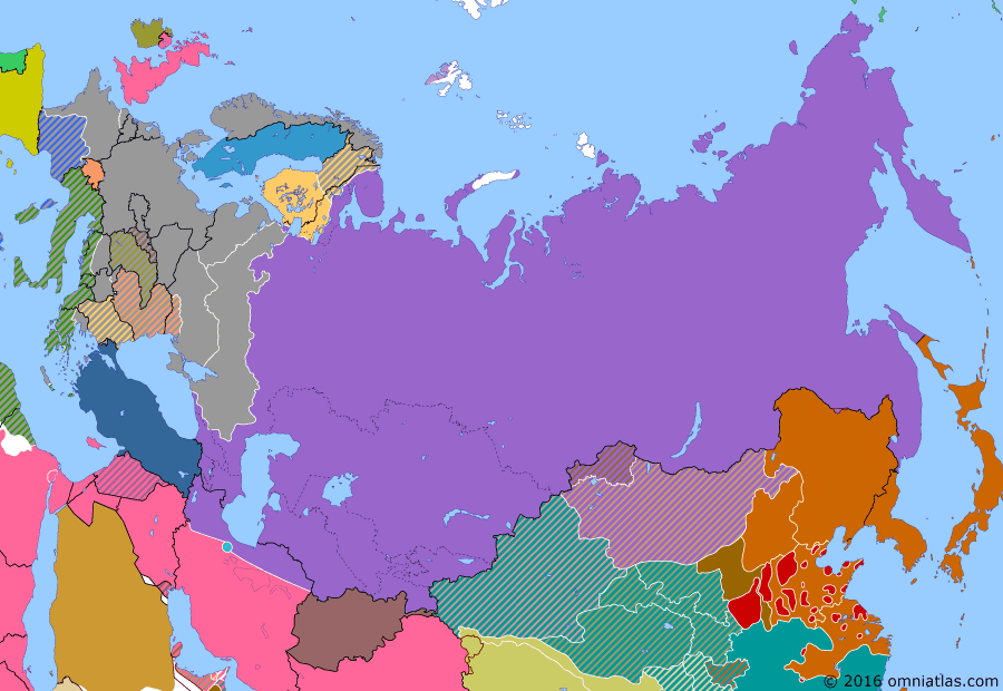 Political map of Russia & the former Soviet Union 22 October 1942 (Case Blue): On June 28, Germany launched its great offensive of 1942: Case Blue (Case Blue), an attack across southern Russia to seize the crucial Baku oil fields (Baku) in Soviet Azerbaijan. However, by October, the German advance had stalled. The focus now shifted to securing control of the flanking city of Stalingrad (Battle of Stalingrad).