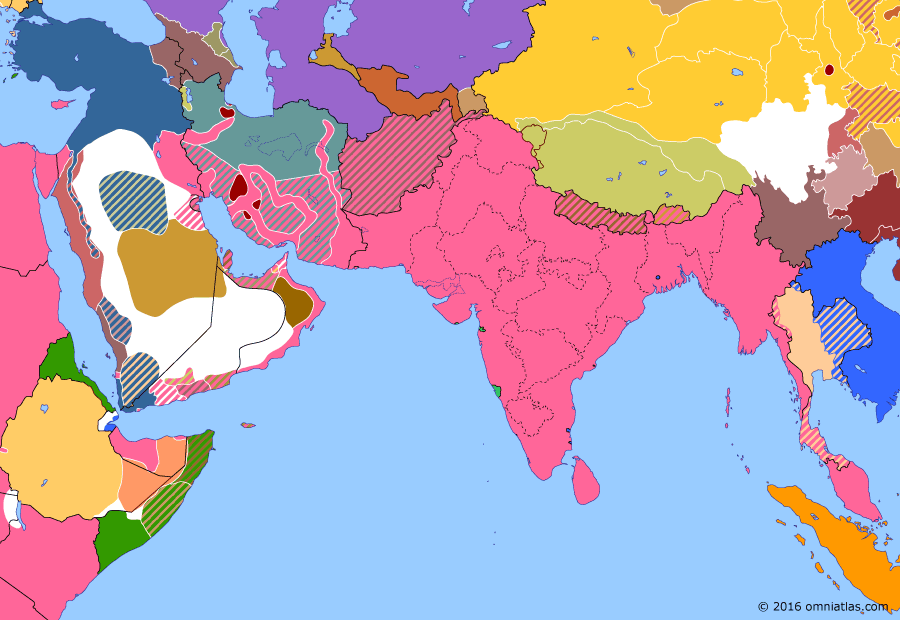 Political map of South & Southwest Asia on 03 Mar 1918 (The Fall of the Ottoman Empire: Treaty of Brest-Litovsk), showing the following events: Dunsterville's Hamadan Expedition; Russian Soviet Federative Socialist Republic; Armistice of Erzincan Ends; Treaty of Brest-Litovsk; Treaty of Brest-Litovsk Article IV.